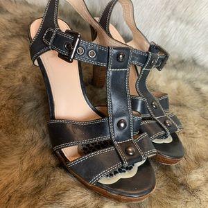 Black coach shoe